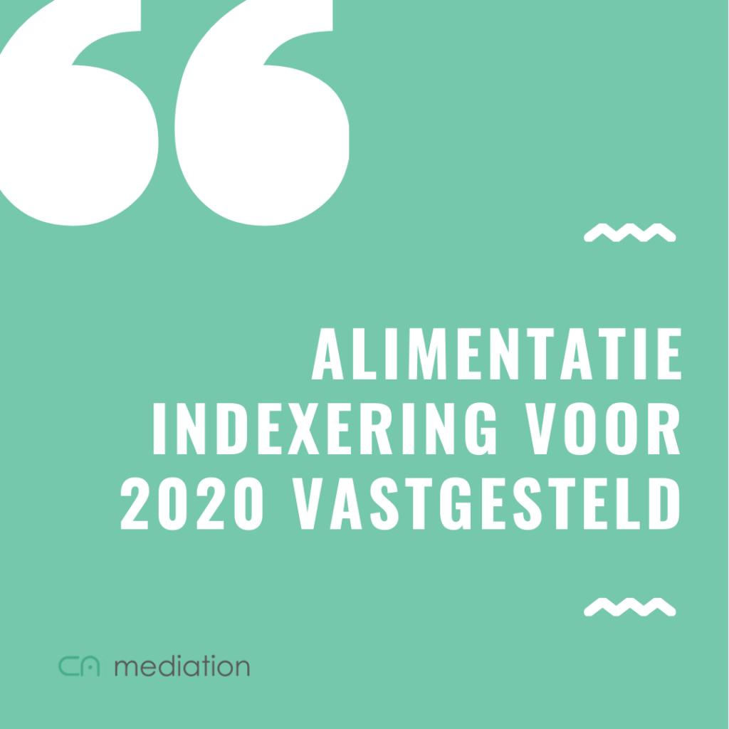 Alimentatie indexering voor 2020 vastgesteld