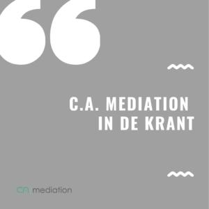 C.A. Mediation Algemeen Dagblad Dordrecht